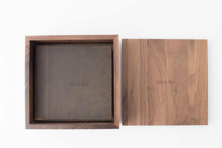 Hand-crafted Walnut Box - Kiss Books