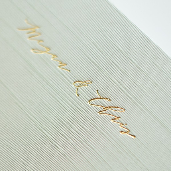 Gold Foil Debossing on Silk Album